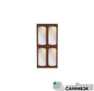 Шкаф для одежды комбинированный с зеркалами (20Н211)