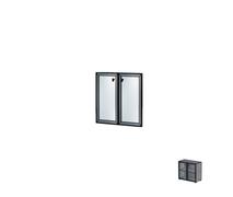 Комплект дверей в алюминиевой раме Н260