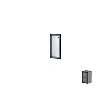 Дверь одиночная в алюминиевой раме Н160