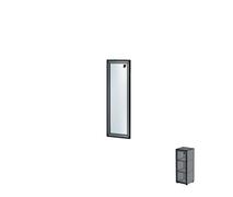 Дверь одиночная в алюминиевой раме Н162