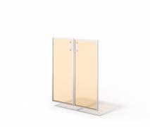 Двери стеклянные в алюминии М-С-9.1094