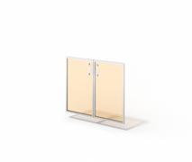 Двери стеклянные в алюминии М-С-9.737