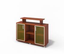 Шкаф с надставкой со стеклом M-7.1058-2