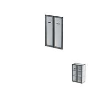 Двери алюминиевые без замка ДШД34.07к.